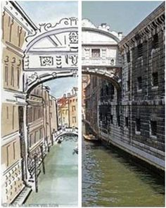 Improve your sketching and watercolor skills. Visit PenInkWatercolorSketching.com to find free reference photos, free, downloadable practice sheets and invaluable advice, tips and techniques. (Images: Venice Canal by Pat Van Kirk Wilson for PenInkWaterColorSketching.com)