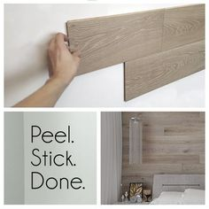 Hardwood Bargains Peel-and-stick REAL wood paneling - Easy, affordable DIY to tr... - Home Decor Ideas