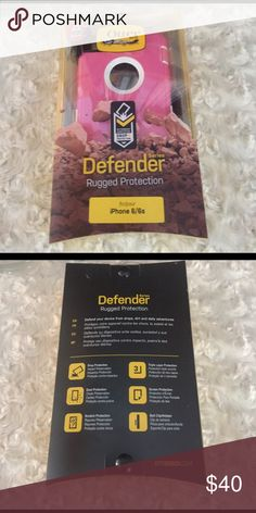 Otterbox Defender iPhone 6 /6s Pink NIB Brand new. Never opened. I'll accept reasonable offers on this one. Please don't offer half. I video outgoing orders for our protection. I ship every day before 11 Alaska time. OtterBox Accessories Phone Cases