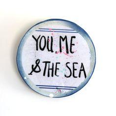 SEA #1 MINI PORTHOLE 65.00 RUSTIC TILE MADE FROM MIXED MEDIUMS