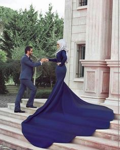 Said Mhamad photography Muslim Wedding Dresses, Blue Wedding Dresses, Wedding Dresses For Sale, Bridal Dresses, Wedding Gowns, Wedding Ushers, Bridal Hijab, Prom Outfits, Best Prom Dresses