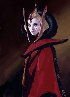 Padme Amidala concept art by Iain McCaig Reina Amidala, Queen Amidala, Karla Ortiz, Disney Pixar, Star Wars Padme, Anakin And Padme, The Phantom Menace, Star Wars Fan Art, Star War 3