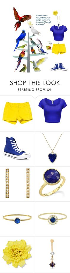 """""""Fly High"""" by blackmagicmomma ❤ liked on Polyvore featuring Kavu, Converse, Jennifer Meyer Jewelry, Marco Bicego, Gucci, Gioelli and Improvements"""