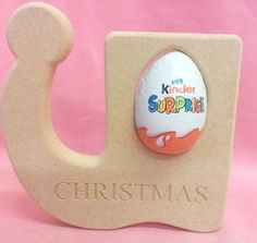 18mm Thick MDF standing  Elf Boot   Christmas egg holder