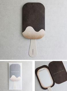 Chocolate ice-cream card..adorable!