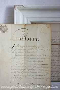 Old French document - 1817.  My little white home by Nadine