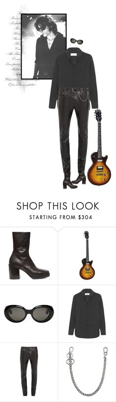 """""""Its never too late to be a rock star."""" by mariots22 ❤ liked on Polyvore featuring Balenciaga, Acne Studios, Yves Saint Laurent, Dsquared2, men's fashion and menswear"""