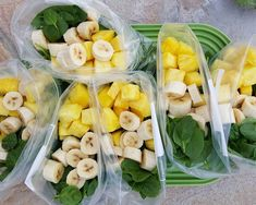 Piña Colada Green Smoothie Prep Packs from Clean Food CrushYou can find Smoothie prep and more on our website.Piña Colada Green Smoothie Prep Packs from Clean Food Crush Smoothie Prep, Green Smoothie Recipes, Fruit Smoothies, Healthy Smoothies, Healthy Snacks, Healthy Recipes, Smoothie Detox, Freezer Smoothie Packs, Smoothie With Avocado