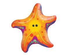 Super Sea Starfish Foil Mylar Balloon  30 by CharmiosCraftParty