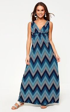 Printed Maxi Dress in Teal by Marc Angelo Holiday Wardrobe, Fitness Models, Teal, Neckline, Boutique, Printed, Summer, Clothes, Dresses