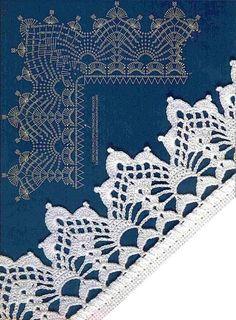 delicate crochet border! #crochet edging #afs 26/5/13 - Teresa Restegui http://www.pinterest.com/teretegui/ ✔