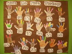 Counting by 5's~ Use this close to thanksgiving for fun craft and counting by 5's