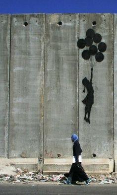 137G. Banksy en Palestine sur le mur de séparation