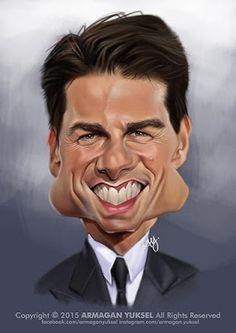 Tom Cruise por Armagan Yuksel - Caricaturas de Famosos