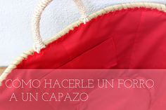 Mummy and Annie DIY: capazo French Baskets, Fabric Bags, Summer Bags, Im Happy, Couture, Handmade Bags, Sewing Tutorials, Diy Tutorial, Ibiza