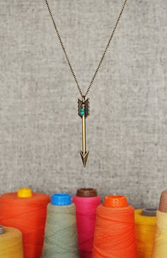 Arrow Necklace - Jocelyn. {Freckled Nest - Etsy}