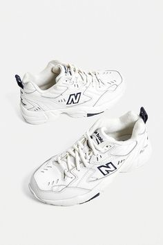 new balance shoes New Balance - Baskets 608 blanches New Balance Trainers, New Balance Shoes, Basket Style, New Balance White, Narrow Shoes, Dad Shoes, Kinds Of Shoes, Shoe Game, Cute Shoes