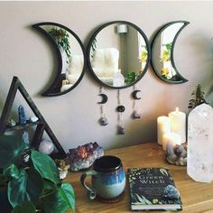 Creating a sacred space is an important part of mainting a high vibe. Here is a step-by-step guide to creating a high vibe sacred space in your own home. Witch Room, Wiccan Decor, Room Ideas Bedroom, Decor Room, Room Decorations, Zen Bedroom Decor, Bohemian Room Decor, Bedroom Lamps, Bedroom Modern