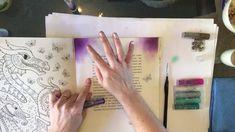 Johanna Basford Ivy_Inky Faber Castell Gelatos tutorial - colouring book...
