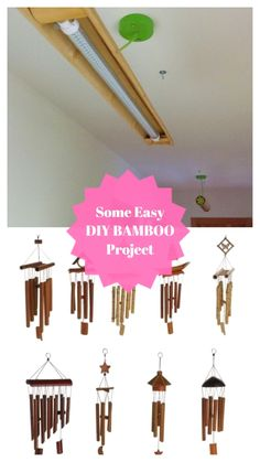 Ideal DIY Bamboo Project #diybambooideas Bamboo Crafts, Bamboo Decoration, Bamboo Ideas, Diy And Crafts, Easy Diy, Ceiling Lights, Amazing, Projects, Craft Ideas