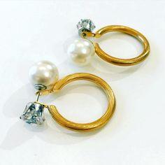 Earring By Vila Veloni Elegant Gemstone And Pearls