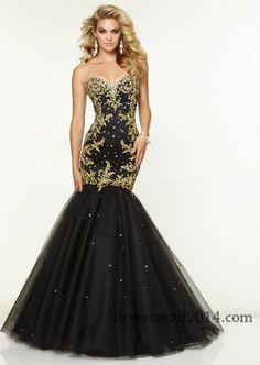 Mori Lee 97073 Black Gold Beaded Mermaid Prom Dress Sale