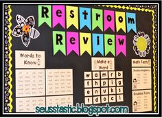 In order to keep students engaged in the hallway, they can practice sight words, make a word & practice their math facts.