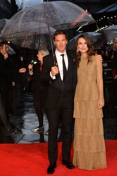 Pin for Later: That's a Wrap! See All the Stars Who Ditched Hollywood For the London Film Festival Keira Knightley and Benedict Cumberbatch Rain can't stop the Brits: Keira and Benedict came out to promote their movie The Imitation Game on Wednesday.