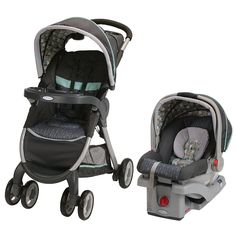 Graco Fastaction Fold Click Connect Travel System Stroller Botany