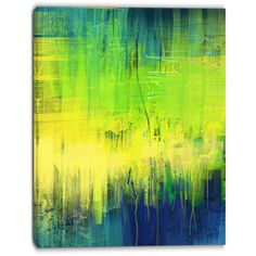 Design Art Green Blue Fusion Abstract Canvas Art Print ($90) ❤ liked on Polyvore featuring home, home decor, wall art, abstract canvas wall art, canvas wall art, aqua home accessories, aqua home decor and abstract wall art