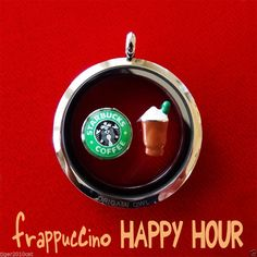 Origami Owl STARBUCKS frappuccino Happy Hour charms set Origami Owl Iced drink #OrigamiOwl