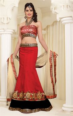 Picture of Awesome Maroon Color Bridal Choli
