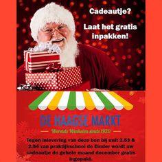 Op de @Haagse Markt kan je tegen inlevering van het kaartje je aankoop gratis laten inpakken. Top toch! Dat scheelt een hoop inpak stress.  Wil je je aankoop laten inpakken vraag dan voor een kaartje.