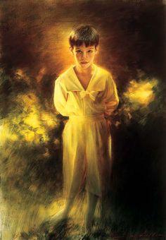 Robert Schoeller Painting: Little Boy Portrait 063 Impressionist Art, Impressionism, Nature Symbols, Boy Drawing, Sketch Notes, Boy Art, Character Illustration, Little Boys, Big Boys