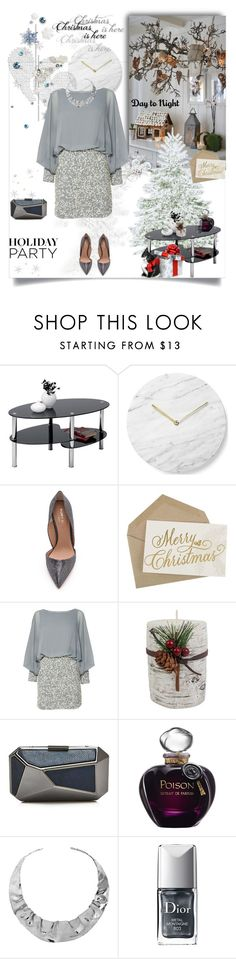 """""""Holiday party"""" by murenochek ❤ liked on Polyvore featuring Menu, Kurt Geiger, Lace & Beads, St. Nicholas Square, Ivanka Trump, Christian Dior, Plukka, holidaystyle and HolidayParty"""