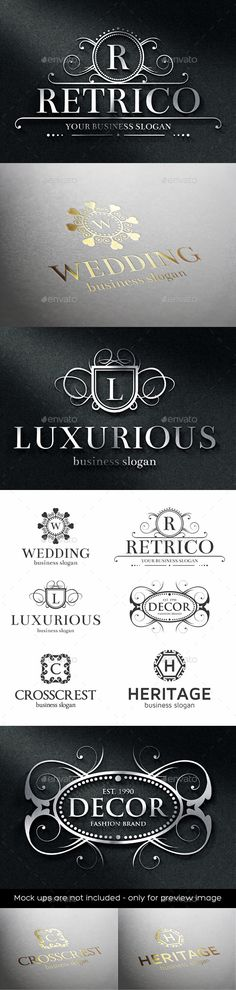 Luxurious Crest Logos Template #design Download: http://graphicriver.net/item/luxurious-crest-logos/12130679?ref=ksioks
