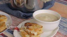 Crème d'oignons   Cuisine futée, parents pressés Quebec, Easy Healthy Recipes, Cooking Tips, Soup Recipes, Food And Drink, Vegetarian, Tasty, Lunch, Dishes