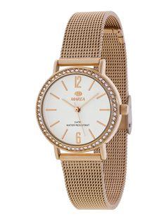 02381a4c9d60 MAREA REF  B41184 4 Reloj de mujer de metal rosé con zirconitas en el
