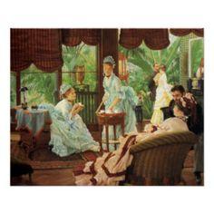 Affiche victorienne de thé de James Tissot