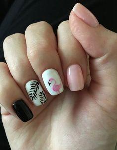 pinapple and flamingo nails;pinapple and flamingo nails; Colorful Nail Designs, Nail Designs Spring, Nail Art Designs, Nails Design, Tropical Nail Designs, Spring Nail Art, Spring Nails, Cute Acrylic Nails, Gel Nails