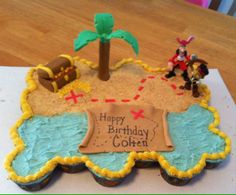Jake and the Neverland Pirates Pull Apart cupcake cake