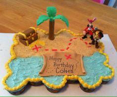 Jake and the Neverland Pirates Pull Apart cupcake cake