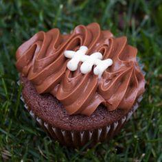 Superbowl Sunday Chocolate Cupcakes
