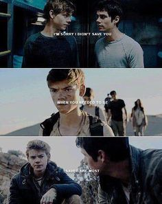 I'm sorry that I couldn't go into TMR world and save Newt