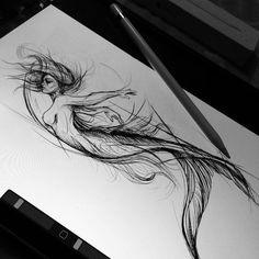 drawings of friends Doodle Drawing, Drawing Sketches, Art Drawings, Arte Sketchbook, Poses References, Desenho Tattoo, Mermaids And Mermen, Mermaid Tattoos, Arte Disney