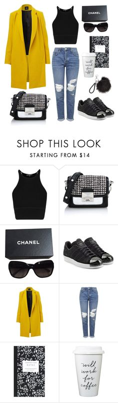 """Untitled #603"" by mercedeszlaszak ❤ liked on Polyvore featuring Karl Lagerfeld, Chanel, adidas Originals, Topshop and Dot & Bo"