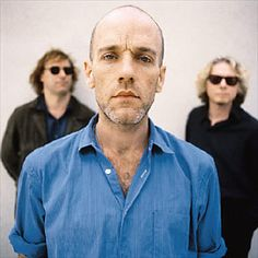 R.E.M.. Anyone remember when he had the blue line across his face for his live aid performance.
