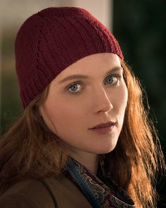 Fitted unisex beanie hat knitting pattern. Sethmurthy by Clare Devine knit in The Fibre Co. Cumbria Fingering