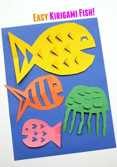 Pink Stripey Socks: Easy Kirigami Fish Craft