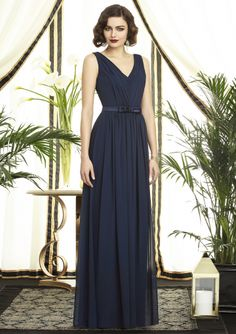A-line+Floor+Length+Dessy+Collection+Bridesmaids+Dress+Style+2897